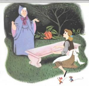 Cenicienta y la hada madrina